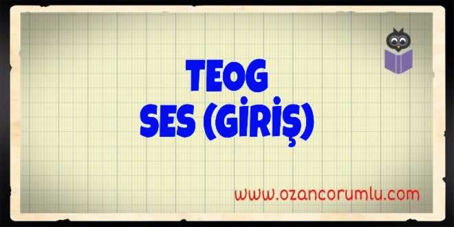TEOG Ses (Giriş)
