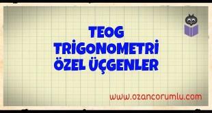 TEOG Trigonometri Özel Üçgenler
