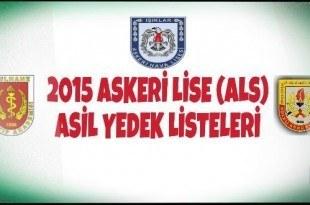 2015 ALS Asil Yedek Listeleri