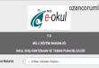 2015-2016 e-okul Boş Kontenjan Sorgulama