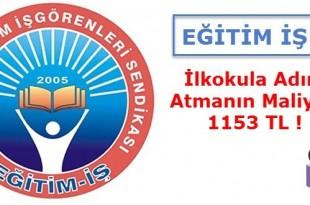 Eğitim İş İlkokula Adım Atmanın Maliyeti 1153 TL