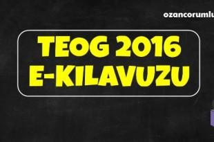 TEOG 2016 e-kılavuzu Yayınlandı