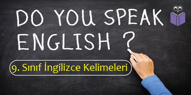 9. Sınıf İngilizce Kelimeleri