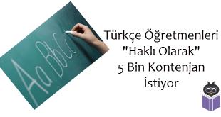 Türkçe Öğretmenleri Haklı Olarak 5 Bin Kontenjan İstiyor